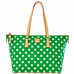 Polka Dot Zip Top Shopper - in Fuchsia/White. OH EM GEE!!!