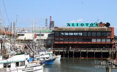 Alioto's - Alioto's Restaurant, a San Francisco landmark located on Fisherman's Wharf, is one of San Francisco's oldest fine dining seafood restaurants specializing in traditional Sicilian recipes. To this day, the family name is closely associated with the City of San Fransisco itself.