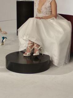 Νυφικά πέδιλα με swarovski Divina Wedding Shoes, Swarovski, Tulle, Woman, Sandals, Heels, Skirts, Dresses, Fashion