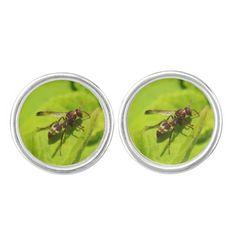 Vespidea paper/Potter wasp cuff links.