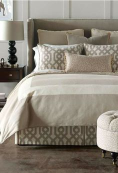 The harmonious, neutral colorway and minimalist design of our Rayland Bedding Collection evokes elegant serenity.