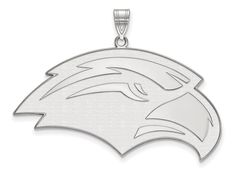 LogoArt Sterling Silver University Of Southern Misterling Silver XL Pendant Necklace - Chain Included