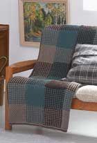 Canadiana - Plaid Texture Afghan (knit)