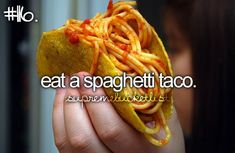 Spaghetti tacos are a thing?!