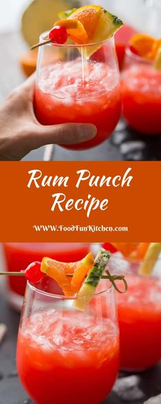 RUM PUNCH RECIPE - Food Fun Kitchen This rum poke direction is achievement to micturate you conclude like you are on spend with every sip! Easy Alcoholic Drinks, Party Drinks Alcohol, Drinks Alcohol Recipes, Fun Drinks, Alcohol Punch, Easy Alcoholic Punch Recipes, Rum Mixed Drinks, Beverages, Adult Punch Recipes