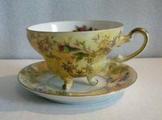 Vintage footed tea cup