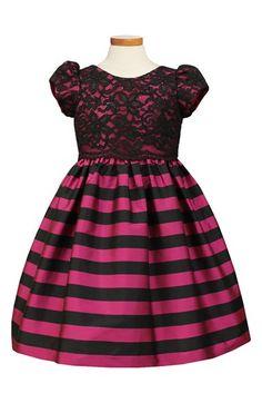 Sorbet Lace Overlay Taffeta Dress (Toddler Girls, Little Girls & Big Girls)