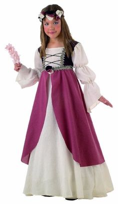 Medieval Bridesmaid Maiden Girls Costume - Dress & Hairband - 11/13 Jahre:Amazon.co.uk:Toys & Games