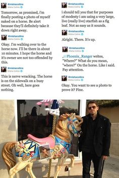 Just another reason to love Misha Collins.   Supernatural :D I was totally confused at first....hahahaha