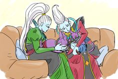 """teamchampa: """"crayongohan: """"This is Beerus, Champa, Whis, and Vados. """" cat parents """" Cat babies"""