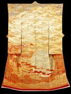 """""""Burning Sun"""" Kimono by Itchiku Kubota, Japan"""