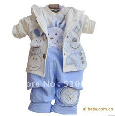 Free-shipping-children-fall-three-piece-installation-boy-sweater-baby-clothes-Overalls-and-coat.jpg (600×610)