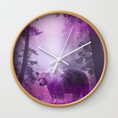 "Available in natural wood, black or white frames, our 10"" diameter unique Wall…"
