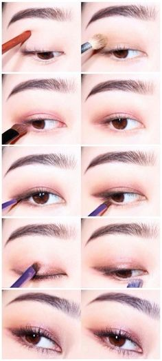 aesthetic makeup paso a paso Super Makeup Paso A Paso Ulzzang 31 Ideas Asian Makeup Monolid, Korean Eye Makeup, Cool Makeup Looks, Bright Eye Makeup, Ulzzang Makeup, Makeup Artist Kit, Asian Eyes, Ideias Diy, Aesthetic Makeup