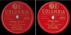 """Carle, Frankie / Counting the Days (1945) / Columbia 36805 (Single, 10""""), $5.00"""