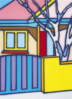 Residence with Gate Howard Arkley Artists For Kids, Art For Kids, Howard Arkley, Powerful Art, Year 9, Building Art, Australian Artists, Various Artists, Color Theory