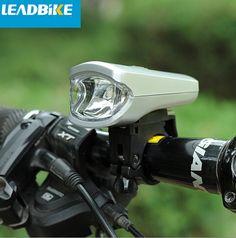LEADBIKE 3W Bike Front Light USB Charging Bicycle Waterproof PC Shell LED
