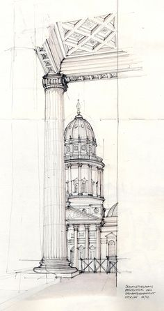 Architecture pencil drawing