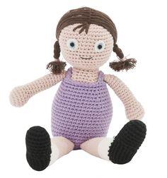 "sebra Häkel-Puppe, ""Ellen"" - ella ella - back to traditions! Crochet Dolls, Crochet Hats, Dollhouse Dolls, Baby Shop, Doll Toys, Tweety, Kids Toys, Hello Kitty, Traditional"