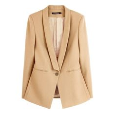 Slim Fit Pure Color Shawl Collar Blazer ($111) ❤ liked on Polyvore
