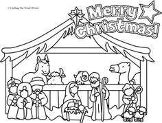 Nativity Coloring Page (Coloring Page) Coloring pages are a great way to end a Sunday School lesson. They can serve as a great take home activity. Or sometimes you just need to fill in those last f…