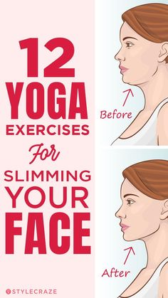 12 Yoga Exercises For Slimming Your Face: If your face has been perennially chubby, rounded and cherubic, all you want to do is move over the innocent look and transform it into a sleek and sultry one Physical Fitness, Yoga Fitness, Fitness Tips, Health Fitness, Fitness Outfits, Fitness Men, Fitness Journal, Fitness Motivation, Facial Fitness