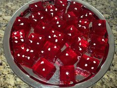 Dice Jell-O shots for casino party or game night! #gamenight #casino #funfood