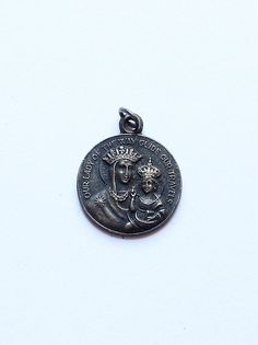Antique Our Lady of Guadalupe Travel Guide Protection Medal Pendant by paststore on Etsy