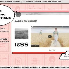 Show off your.. - New collection - New designs - New website - Photo gallery The Jacquemus content is just for fun/a placeholder and I do not own the right to their brand name. All content is a placeholder, but you could really just use this for anything that needs a 'grand' entrance! (wait for the website embed to load in the gif)* Pitch Presentation, Presentation Templates, Grand Entrance, Just For Fun, Photo Galleries, Layouts, Content, Bar, Website