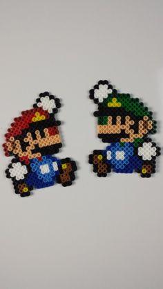 Mario et Luigi NES / SNES hybride Perler Bead Sprite
