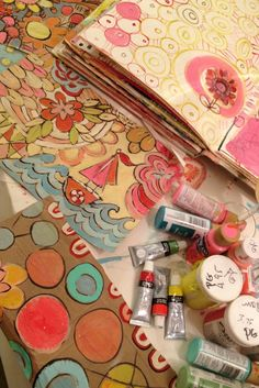 Pam Garrison has the most gorgeous journals!