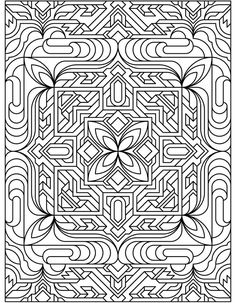Coloring Page from Deco Tech: Dover Pub. Weekly Samples
