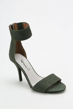 066468d422bf Overview   Fierce heeled sandal in scaled leather from Jeffrey Campbell   Complete with an oversized ankle-strap  Tonal zip closure down the back   Cushioned ...