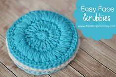 The next pattern in my Spa Day Series, Easy Face Scrubbies! They are great for cleansing your face and are a great addition to any spa set.