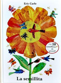 Diez semillitas de girasol son arrastradas por el viento. Se enfrentan a un largo viaje lleno de aventuras. La semillita más pequeñita, tras vencer las dificultades, se convertirá en un radiante y hermoso girasol. Un texto sencillo pero poético. Arropado por coloridos collages, nos explica, como en un susurro, el milagroso ciclo de la vida.