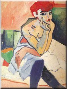 """André Derain """" La femme en chemise """" 1906"""