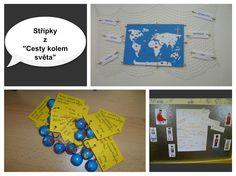 Cesta z kolem světa - mapa, výstup z Evropy, dárky k zakončení