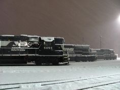 Enola Diesel shop in Enola, Penn., received up to 24 inches of snow [winter Photo by John Molesevich, electrician. Us Railway, Classic Photographers, Southern Railways, Norfolk Southern, Diesel Locomotive, Steam Engine, Trains, Snow, Branches