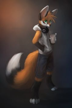 Tails the fox as a red panda ? Lol