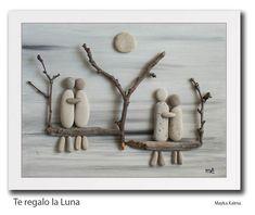 Resultado de imagen de cuadro familia con piedras