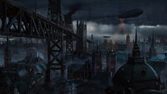 Victorian town by sheer-madness.deviantart.com on @DeviantArt