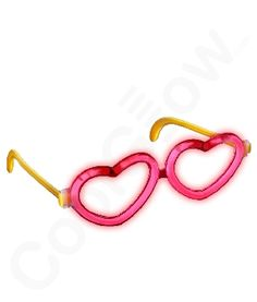 Share CoolGlow with you Friends and Receive 5% on your order.  Glow Heart Eyeglasses - Red - Coolglow.com #http://pinterest.com/coolglow/