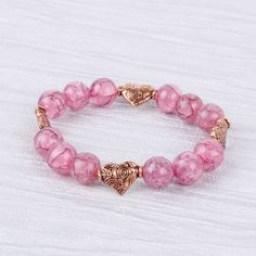 Make a cute bracelet with unusual crackle beads from the SALE! Available in more COLOURS. <3