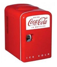 Coca-Cola-Personal-Refrigerator-Mini-Fridge-Man-Cave-6-Can-Cooler-Beer-Man-Cave