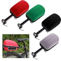 perfk Waterproof Bike Frame Hard Shell Pack Bags Tail Bag Hard Shell Tail  Bag with Rain Cover and Bike Rack - Black  Amazon.co.uk  Sports   Outdoors 4b2117641dbd