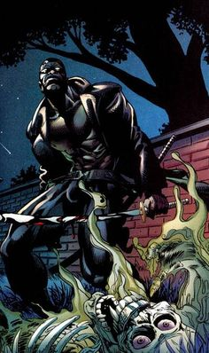 Blade Univers Marvel, Marvel Comic Books, Comic Book Characters, Marvel Heroes, Marvel Dc, Eric Brooks, Blade Marvel, Day Walker, Black Comics