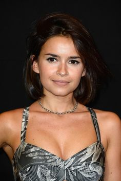 Miroslava Duma Short Hairstyles:Chin-length Bob with half updo and side swept…