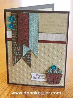 April SOTM Typed Note birthday card masculine Jackson #ctmh #scraptabulousdesigns #cricutexplore