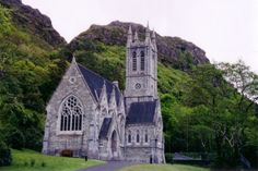 Church at Kylemore Abbey, Ireland - Church tucked into the hills - this gothic church, built in the 19th century, has the feel of a small cathedral, with beautiful marble columns and stained glassed windows adorning the interior.