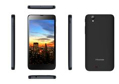 """Hisense HS-U970 (B) Smartphone Android con Procesador Quad-Core 1.2GHz con 1GB RAM + 4GB EMMC. Pantalla Táctil 5"""", Wi-Fi, GPS, Bluetooth, FM. Cámara Trasera 8 MP (AF) con Flash LED y Cámara Delantera 0,3 MP. Batería 2000 mAH, Sensor de Proximidad, Sensor de  luz Ambiente. Micro USB, 3.5mm headset Jack. #Hisense #Smartphone #blanco"""